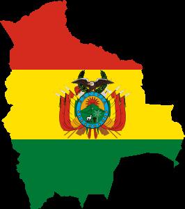 Clipart Bolivia Flag Map