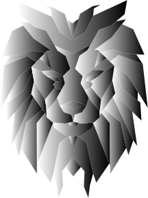 https://openclipart.org/image/300px/svg_to_png/244237/Grayscale-Polygonal-Lion-Face.png