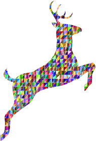 https://openclipart.org/image/300px/svg_to_png/260087/Low-Poly-Iridescent-Leaping-Deer-Silhouette.png
