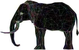 https://openclipart.org/image/300px/svg_to_png/260575/Prismatic-Low-Poly-3D-Elephant-Wireframe.png