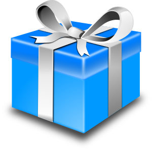 Clipart - Present Blue Pack