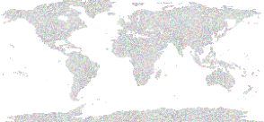 Clipart prismatic world map dots small image png gumiabroncs Images