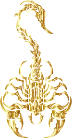 https://openclipart.org/image/300px/svg_to_png/279892/Sleek-Tribal-Scorpion-Gold.png