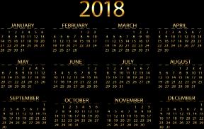 Clipart - 2018 Calendar Gold No Background