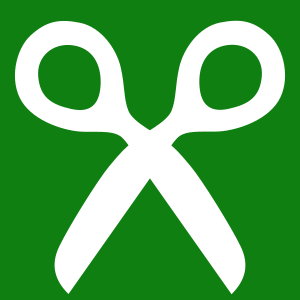Clipart - green girlscout trefoil