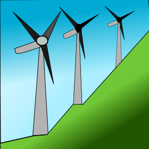 Clipart - Windmills