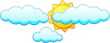 Sun under clouds