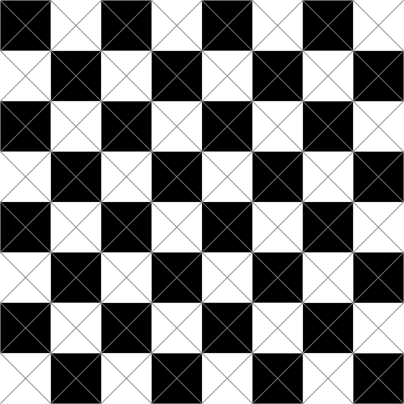 chessboard-diagonal-cuts