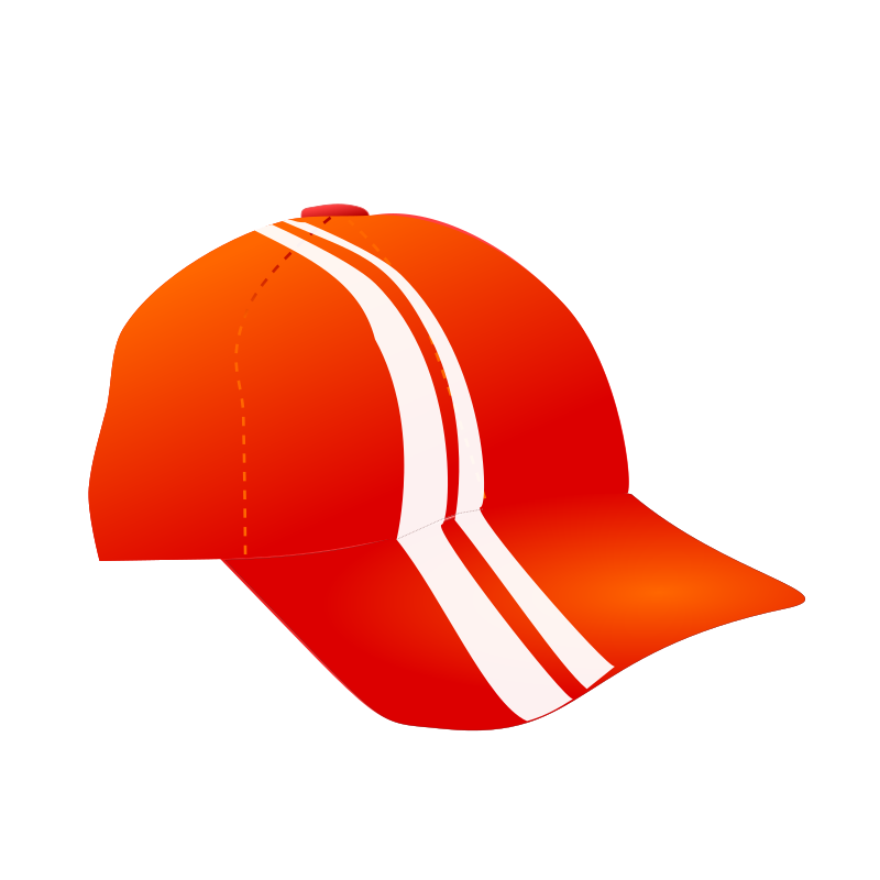 cap with racing stripes
