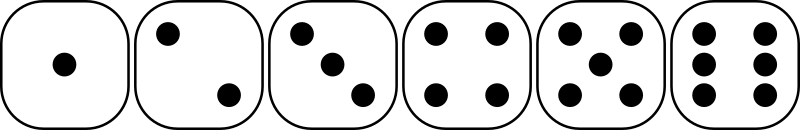 six-sided dice faces lio 01