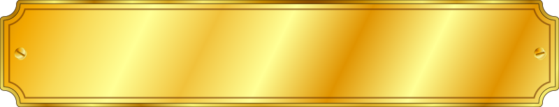 Gold Metal Sign (extended)