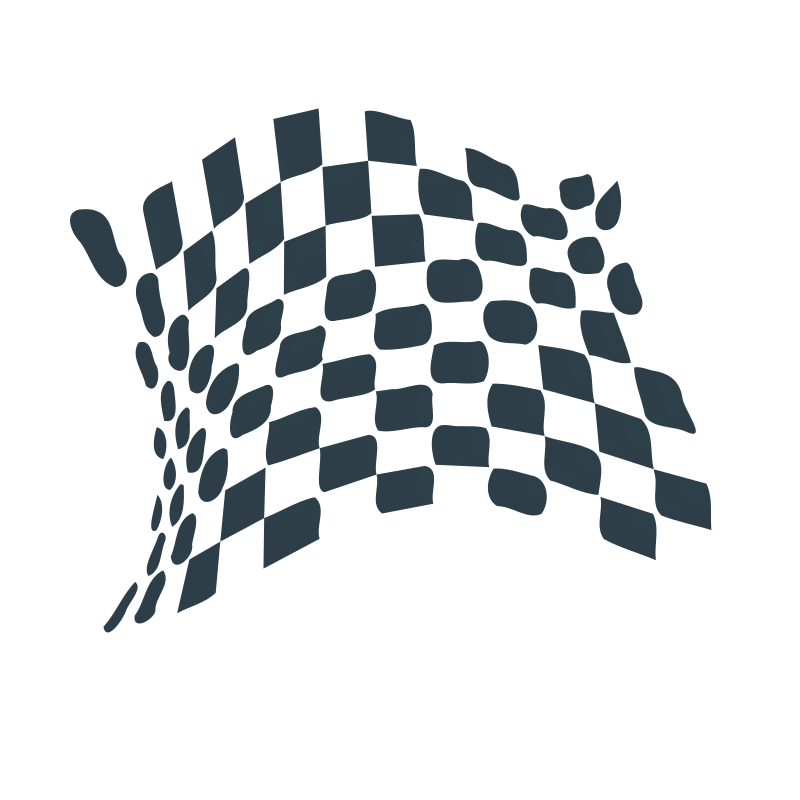 chequered flag abstract icon