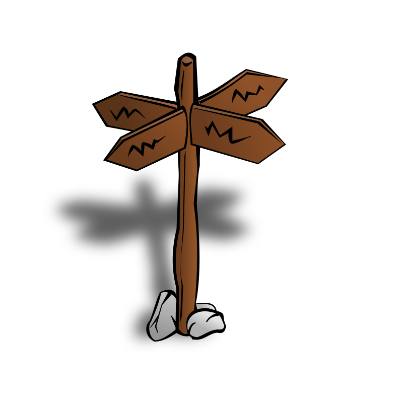RPG map symbols: Crossroads Sign