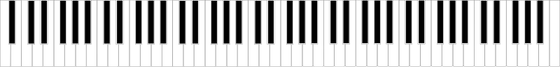 Standard 88-key Piano Keyboard