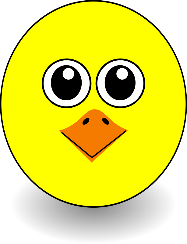 Funny Chick Face Cartoon