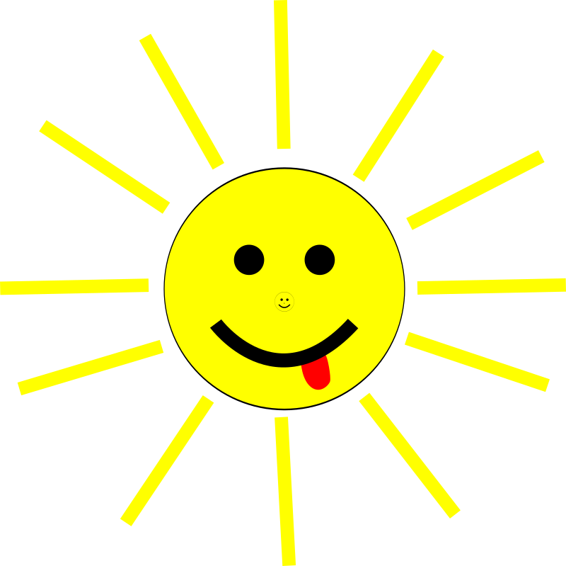 Funny Sun Face Cartoon
