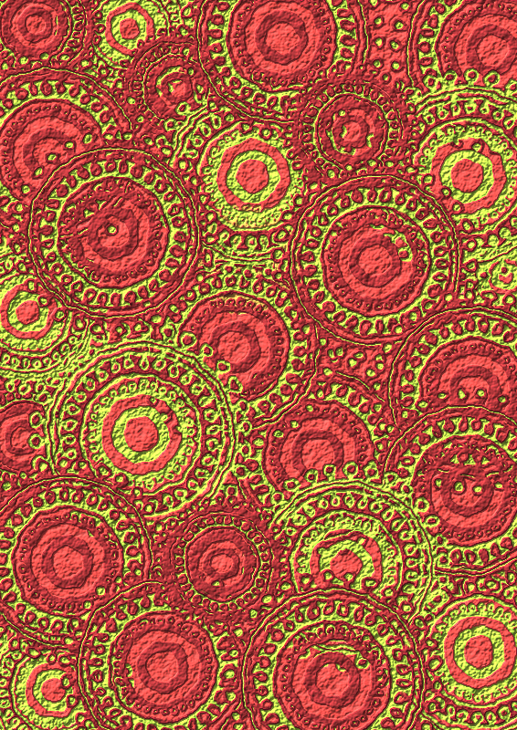 Lime Burgundy Circle Pattern Scrapbook Paper