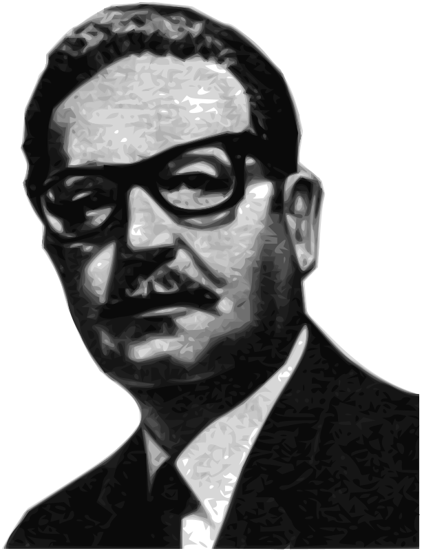 Salvador Allende Greyscale 56th President of the Senate of the Republic of Chile