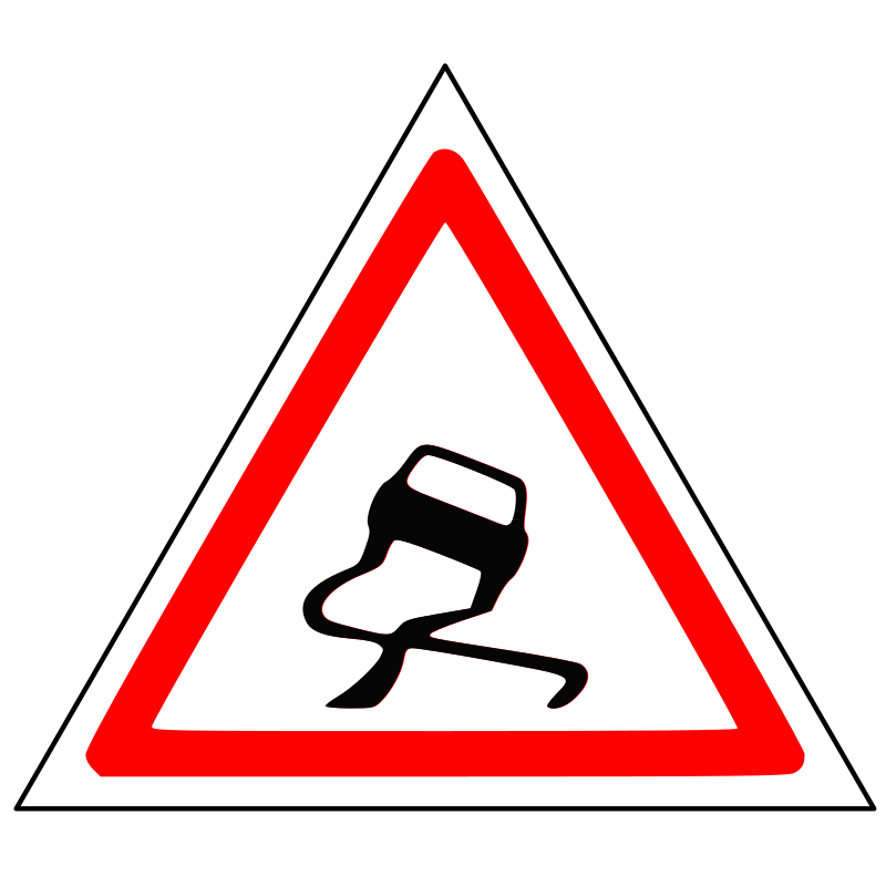 Warning Sliding Car Roadsign