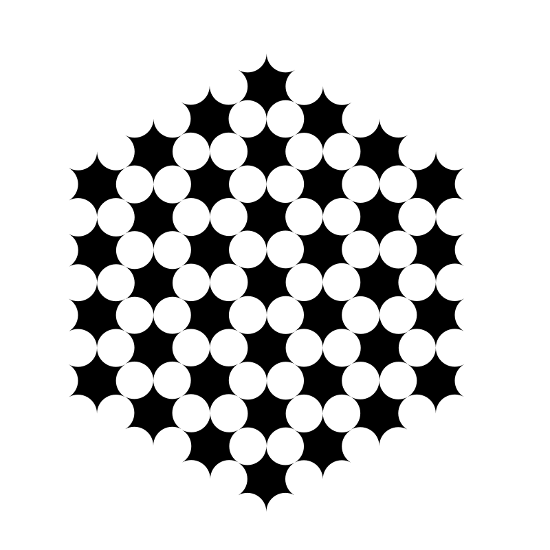 round hexagons circles
