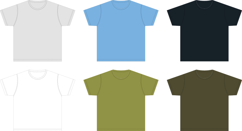 XL-size Blank T-shirt Template