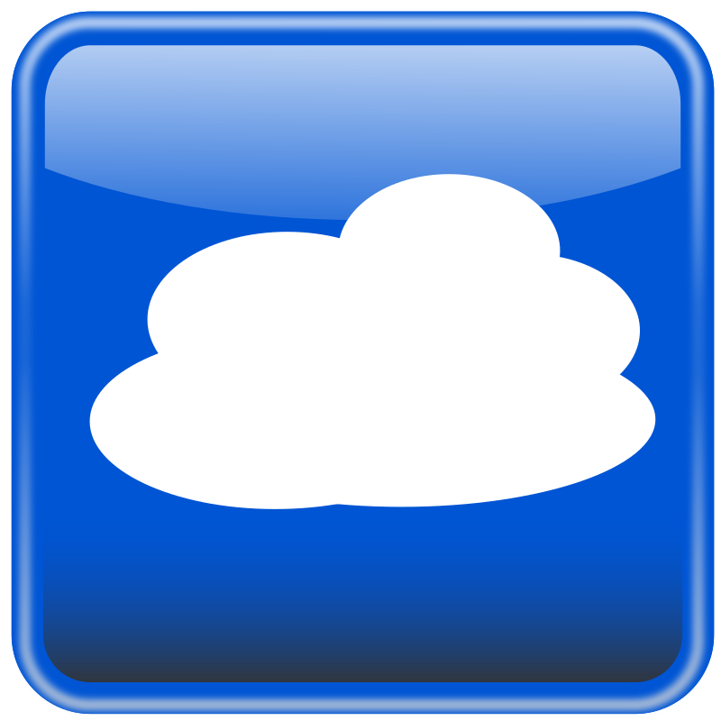 Cloud computing button. Nube computo