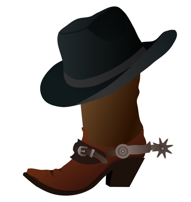 Cowboy Boot and Hat