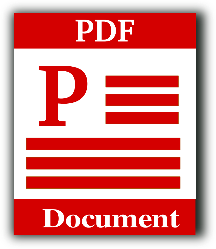 Portable Document Format Icon