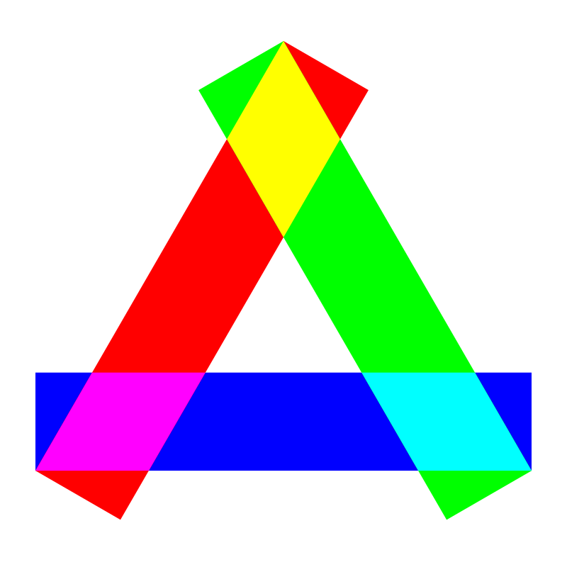 rgb long rectangles triangle