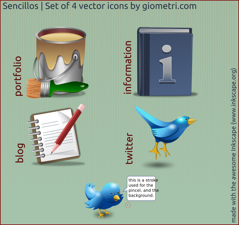 Sencillo 4 vector icons