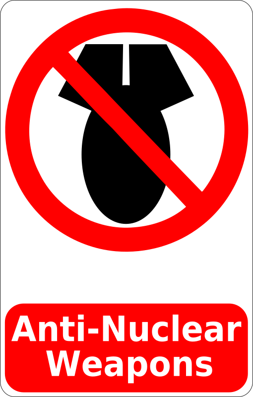 Anti-Nuclear Weapons Sign
