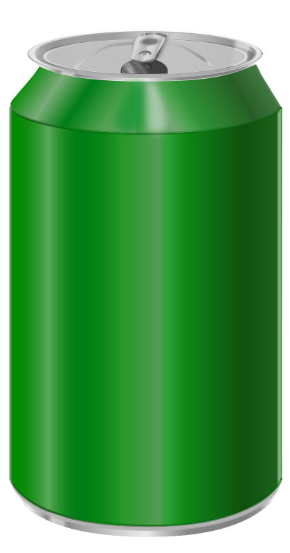 Green soda can