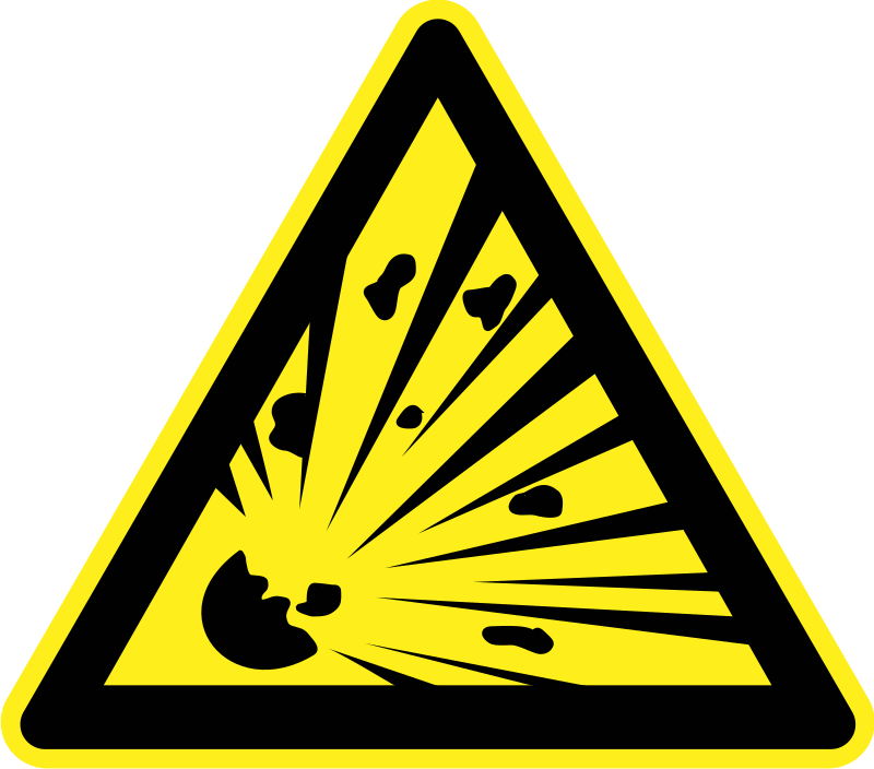 Explosive Material Warning Sign