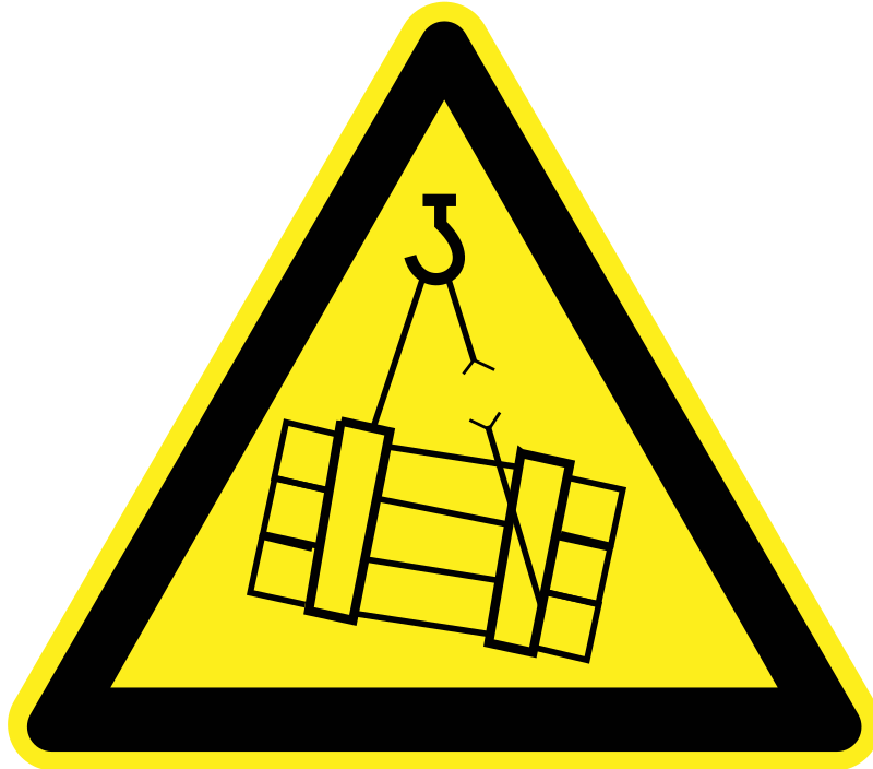 Signs Hazard Warning - falling cargo