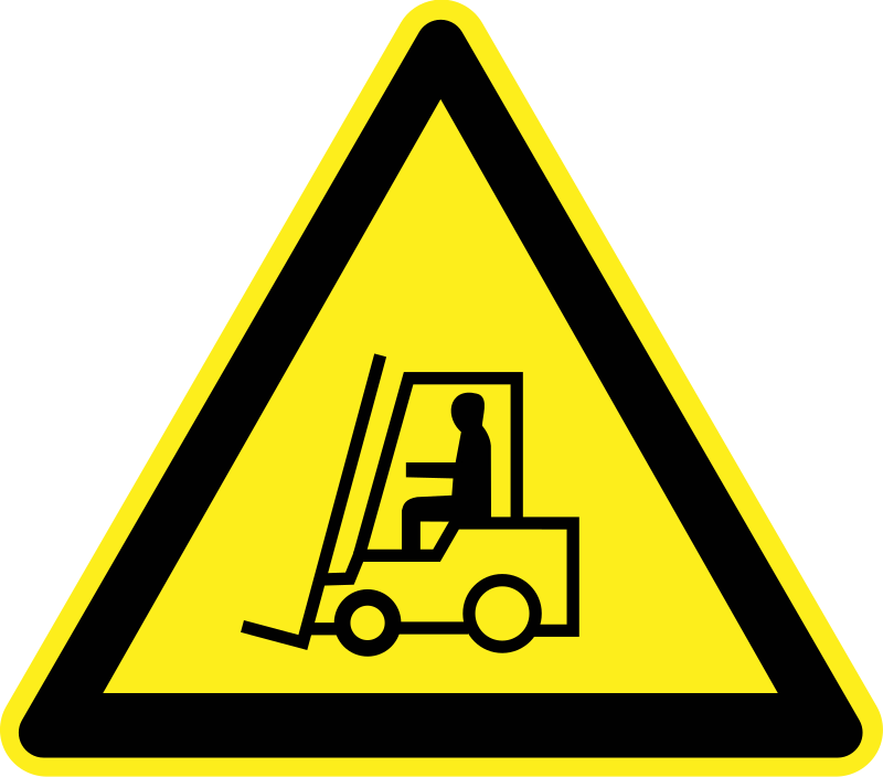 Signs Hazard Warning - lift trucks