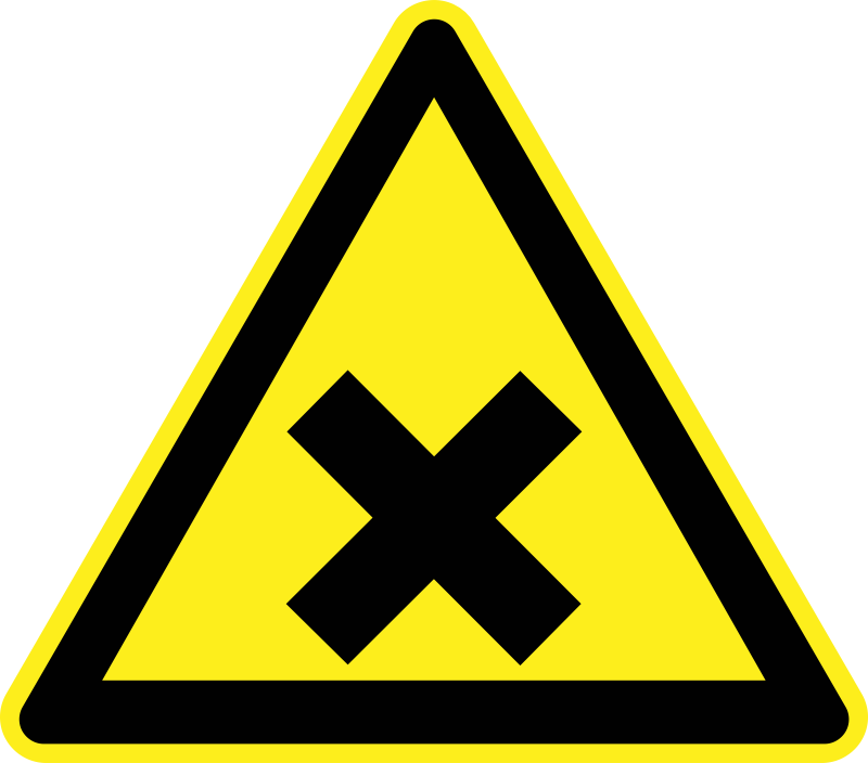 Noxious and Irritating Warning Sign