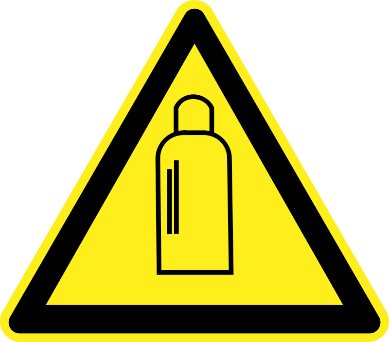 Gas Cylinders Warning Sign