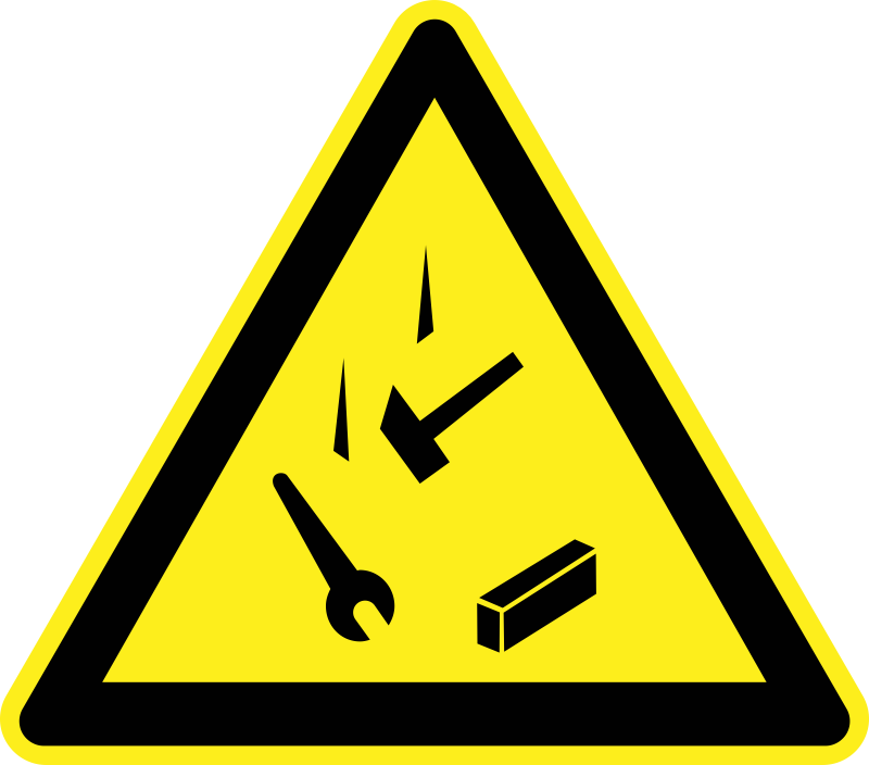 Danger Falling Objects Warning Sign