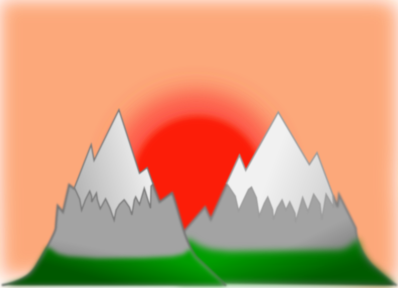 Sunset mountain (simple)