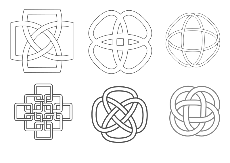 Celtic inspired knots