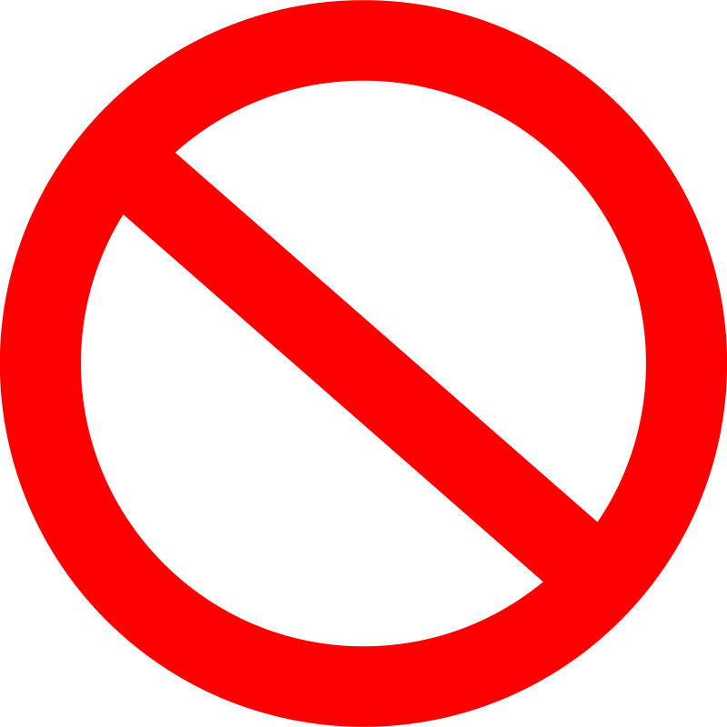 Panneau interdit / forbidden road sign basic