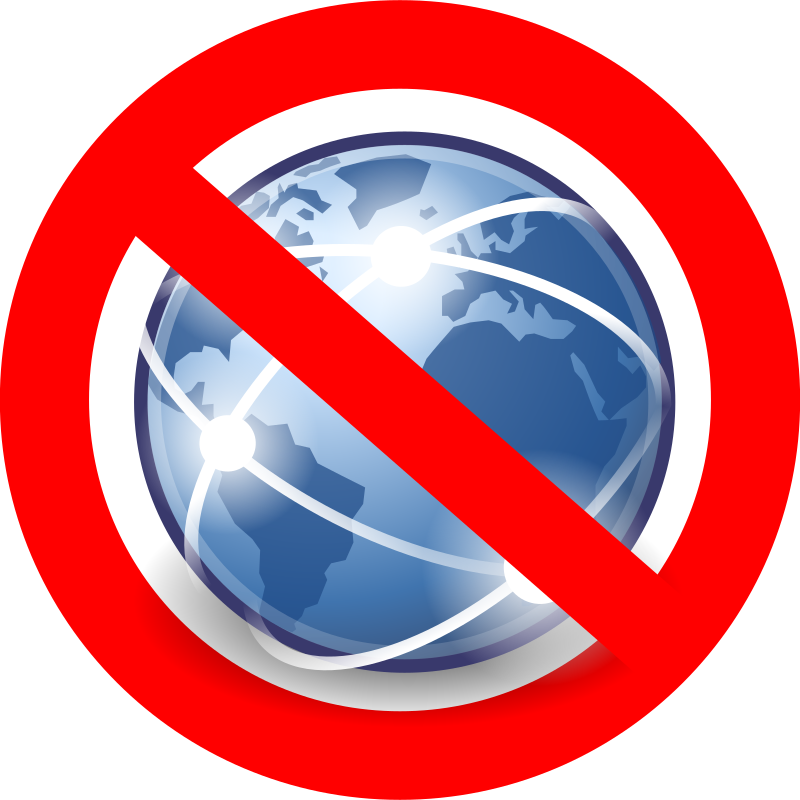 No Global Internet / Pas d'internet global
