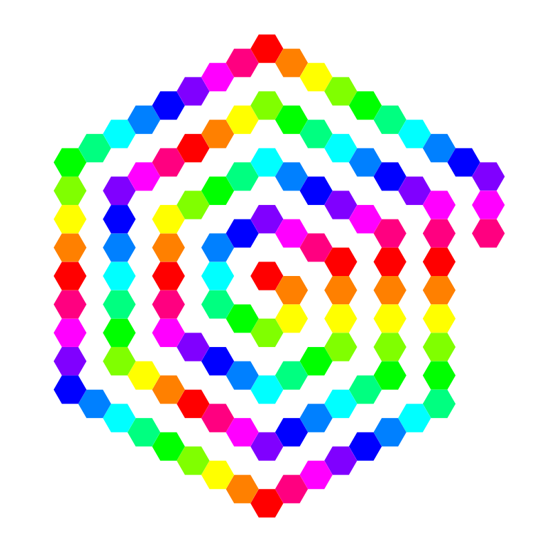 120 hexagon spiral