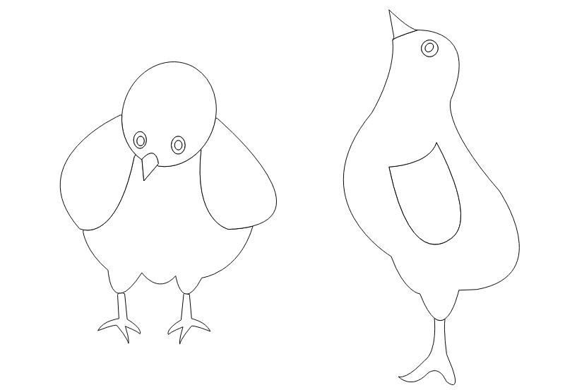 chickens-001-vector-coloring