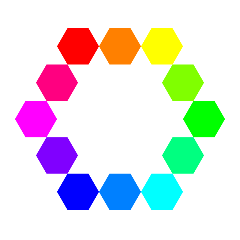 1 point 12 connected hexagons