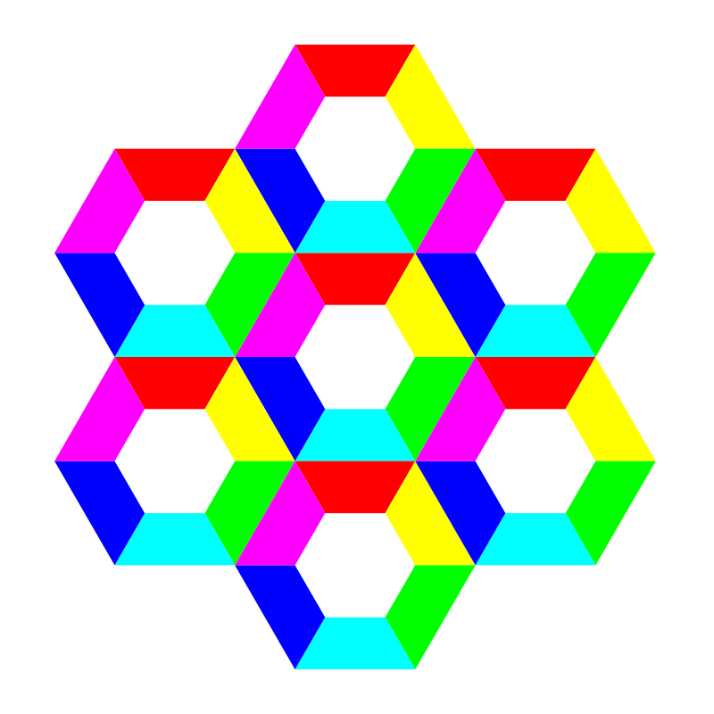 half hexagon fun