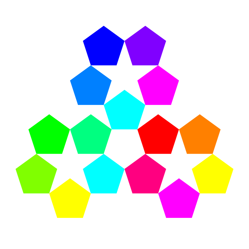 color pentagon inspiration