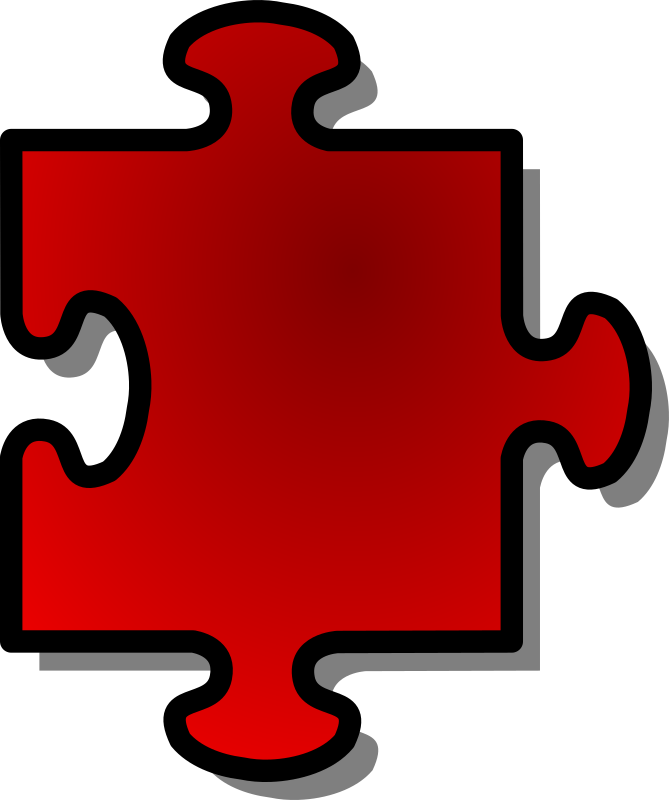 Red Jigsaw piece 05