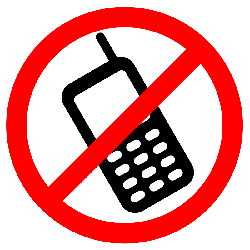 No Cell Phones Allowed