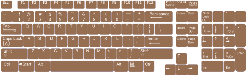 US English Keyboard Layout V0.1
